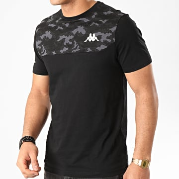 Kappa - Tee Shirt Camouflage Giara 311117W Noir