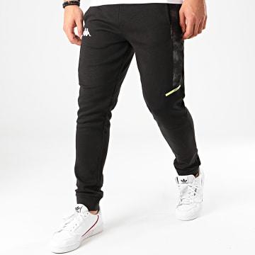 Kappa - Pantalon Jogging Camouflage Gian 31111GW Noir