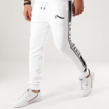 La Piraterie - Pantalon Jogging A Bandes Paris Blanc