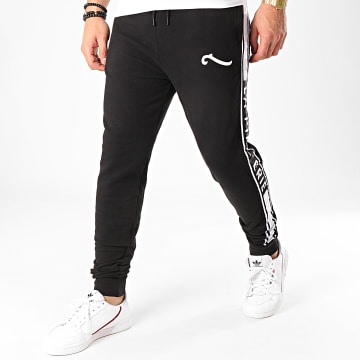 La Piraterie - Pantalon Jogging A Bandes Paris Noir