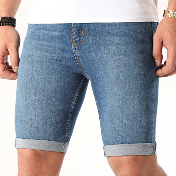 LBO - Short Jean Skinny Fit 999 SS-10A Denim Bleu
