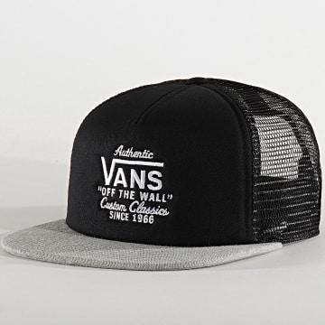 Vans - Casquette Snapback Trucker Galer 1CDBJ3 Noir Gris Chiné