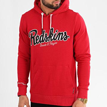 Redskins - Sweat Capuche Daft Smash Rouge