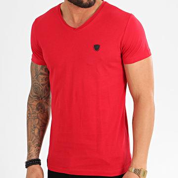 Redskins - Tee Shirt Col V Aden Rouge