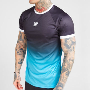 Tee Shirt Hem Fade 15806 Noir Bleu Clair Dégradé
