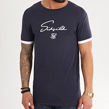 SikSilk - Tee Shirt Tech 16301 Bleu Marine