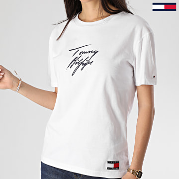 Tee Shirt Femme CN Logo 2262 Blanc
