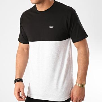 Vans - Tee Shirt Colorblock A3CZDRP5 Noir Gris Chiné