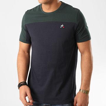 Le Coq Sportif - Tee Shirt Tricolore Pronto N2 2011139 Bleu Marine Vert Sombre