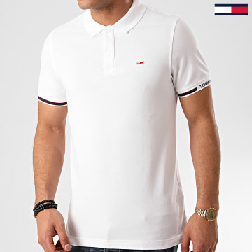 Tommy Jeans - Polo Manches Courtes Detail Rib 7803 Blanc