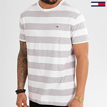 Tee Shirt A Rayures Bold Stripe 7810 Blanc Gris Chiné