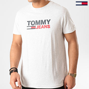 Tommy Jeans - Tee Shirt Corp Logo 7843 Gris Chiné