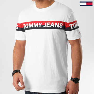 Tommy Jeans - Tee Shirt Double Stripe Logo 7862 Ecru