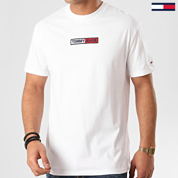 Tee Shirt Embroidered Box Logo 7868 Blanc