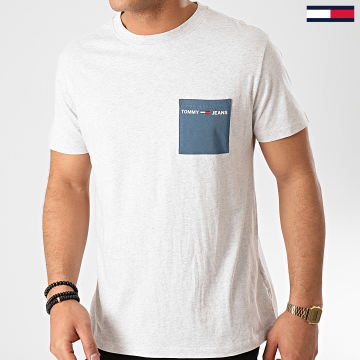 Tee Shirt Poche Contrast Pocket 8097 Gris Chiné