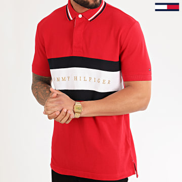 Tommy Hilfiger - Polo Manches Courtes Iconic Chest Stripe 2242 Rouge