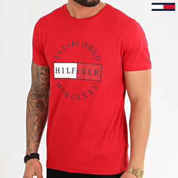 Tommy Hilfiger - Tee Shirt Corp Circular 2532 Rouge
