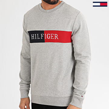 Sweat Crewneck Intarsia 3040 Gris Chiné