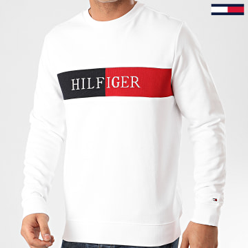 Sweat Crewneck Intarsia 3040 Blanc