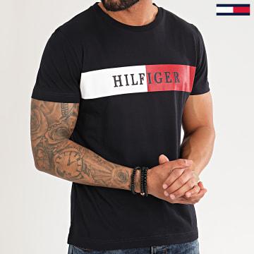 Tee Shirt Block Stripe 3331 Bleu Marine