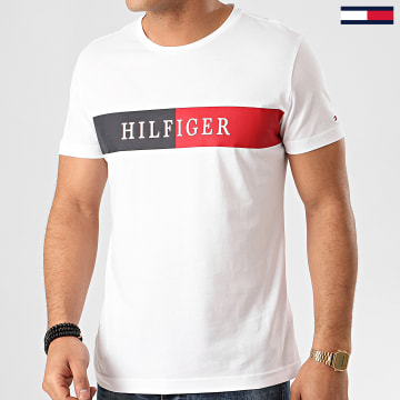 Tee Shirt Block Stripe 3331 Blanc