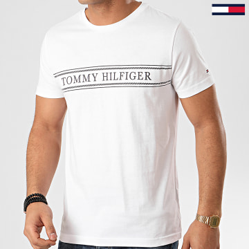 Tee Shirt Rope Stripe 3333 Blanc
