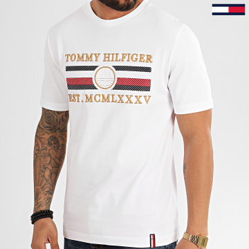 Tee Shirt Icon Stripe 3341 Blanc