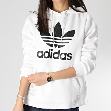 adidas - Sweat Capuche Femme GK1718 Blanc