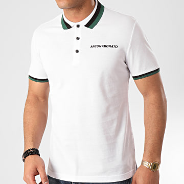 Polo Manches Courtes Sport The Green Lin MMKS01713 Blanc