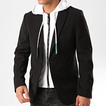 Veste Zippée Capuche MMJA00424 Noir Blanc