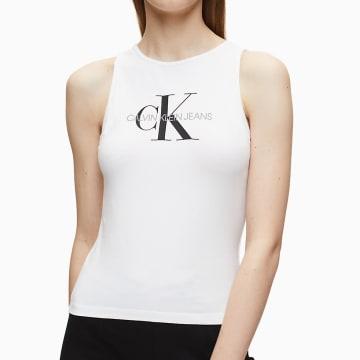 Calvin Klein - Débardeur Femme Crop 3050 Blanc