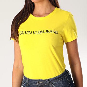 Calvin Klein - Tee Shirt Femme 3127 Jaune