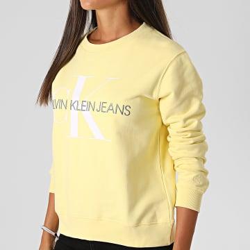 Calvin Klein - Sweat Crewneck Femme 3480 Jaune