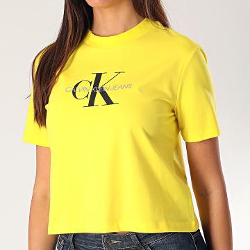 Calvin Klein - Tee Shirt Crop Femme 213692 Jaune
