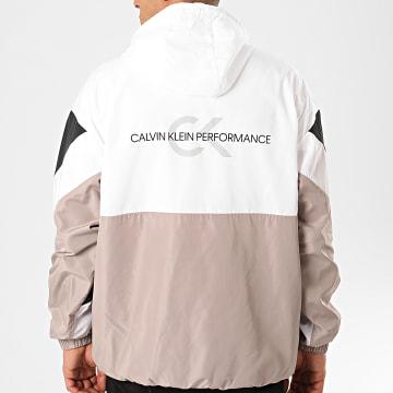 Veste Col Zippée Capuche GMS0O601 Noir Blanc Beige Réfléchissant