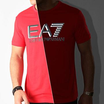 EA7 - Tee Shirt 3HPT81-PJM9Z Rouge Réfléchissant
