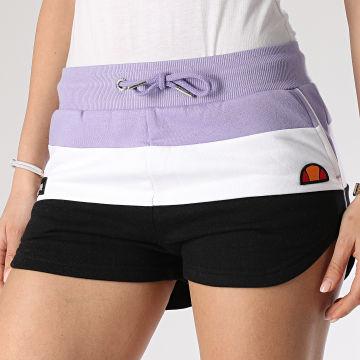 Short Jogging Femme Tricolore Stefani Fleece SGE04450 Violet Blanc Noir