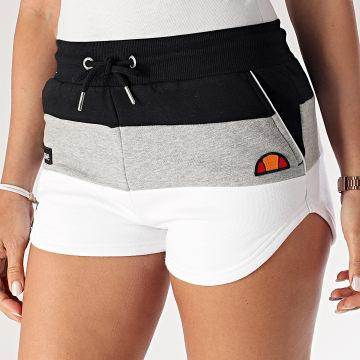 Short Jogging Femme Tricolore Stefani Fleece SGE04450 Noir Gris Chiné Blanc