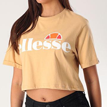 Tee Shirt Crop Femme Alberta SGE04484 Beige