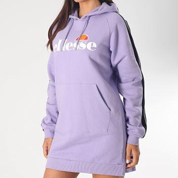 Robe Sweat Capuche Femme A Bandes Pilza SGE08432 Violet