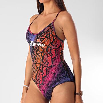 Maillot De Bain Une Pièce Femme Serpent Giama All Over Print SGE08453 Violet Orange