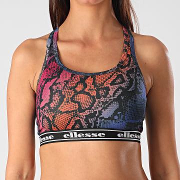 Ellesse - Brassière Femme Dento SGE09026 Rose Orange Bleu Serpent