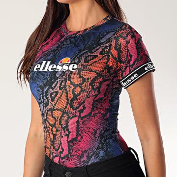 Body Tee Shirt Femme Serpent Flare SGE09028 Bleu Violet