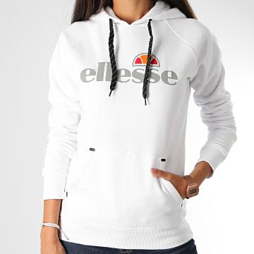 Ellesse - Sweat Capuche Femme Arpino SRE08353 Blanc Réfléchissant