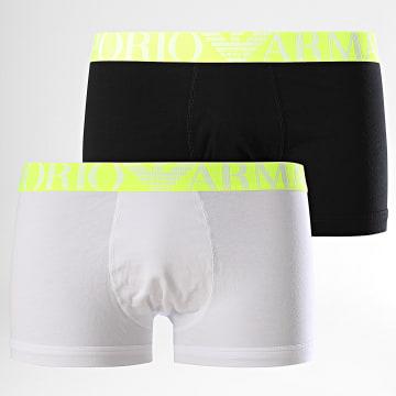 Lot De 2 Boxers 111210 Blanc Noir Jaune Fluo
