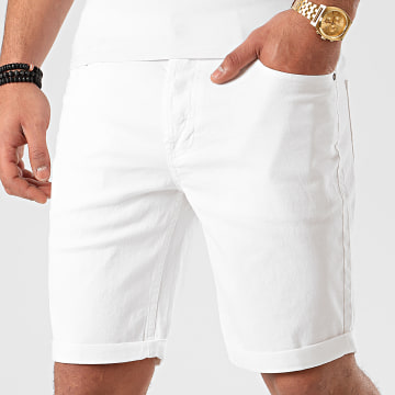 Jack And Jones - Short En Jean Rick Original Blanc