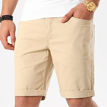 Jack And Jones - Short En Jean Rick Original Beige