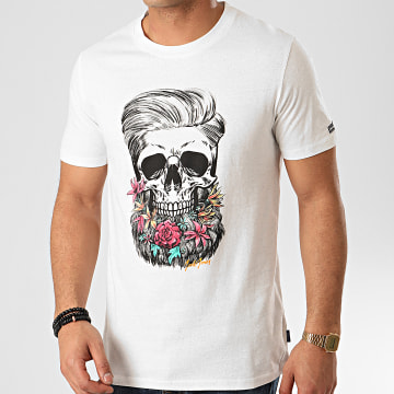 Tee Shirt Sun Skull Blanc
