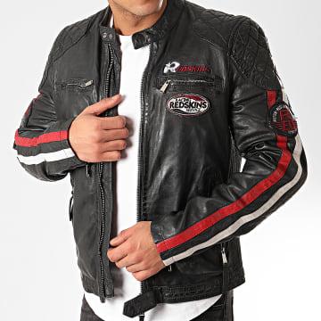 Redskins - Veste Biker A Bandes Rafter Calista Noir