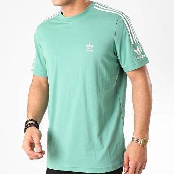 Tee Shirt A Bandes Tech FM3799 Vert
